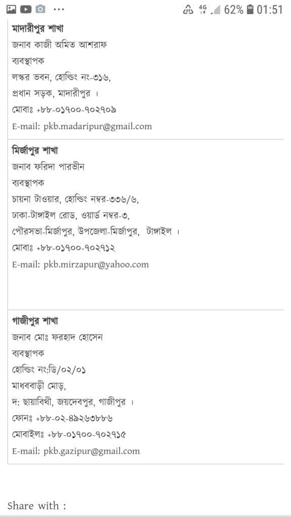 Probashi kallyan bank helpline number