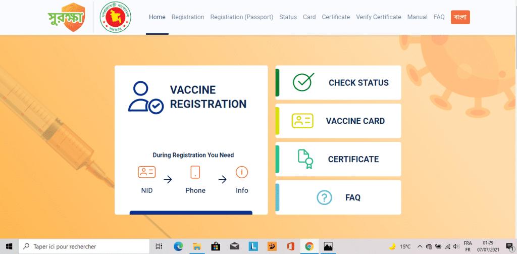 covid 19 vaccine in Bangladesh